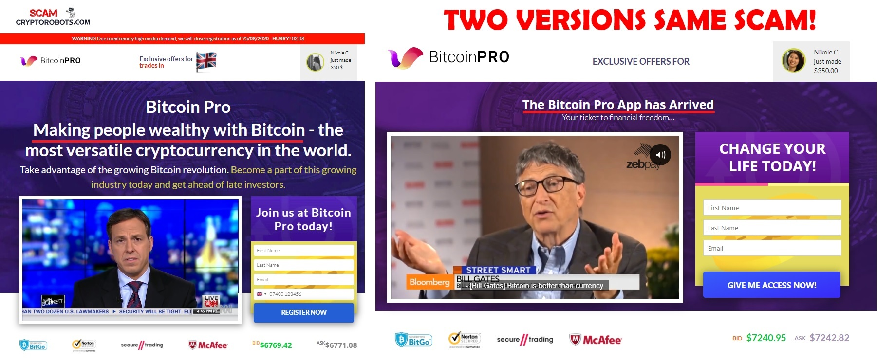 pro și contra bitcoin)