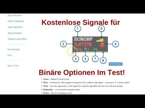feedback despre semnale pentru opțiuni binare)