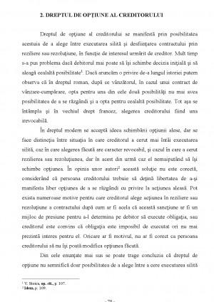 Rezolutiunea si rezilierea contractului conform Noului Cod Civil