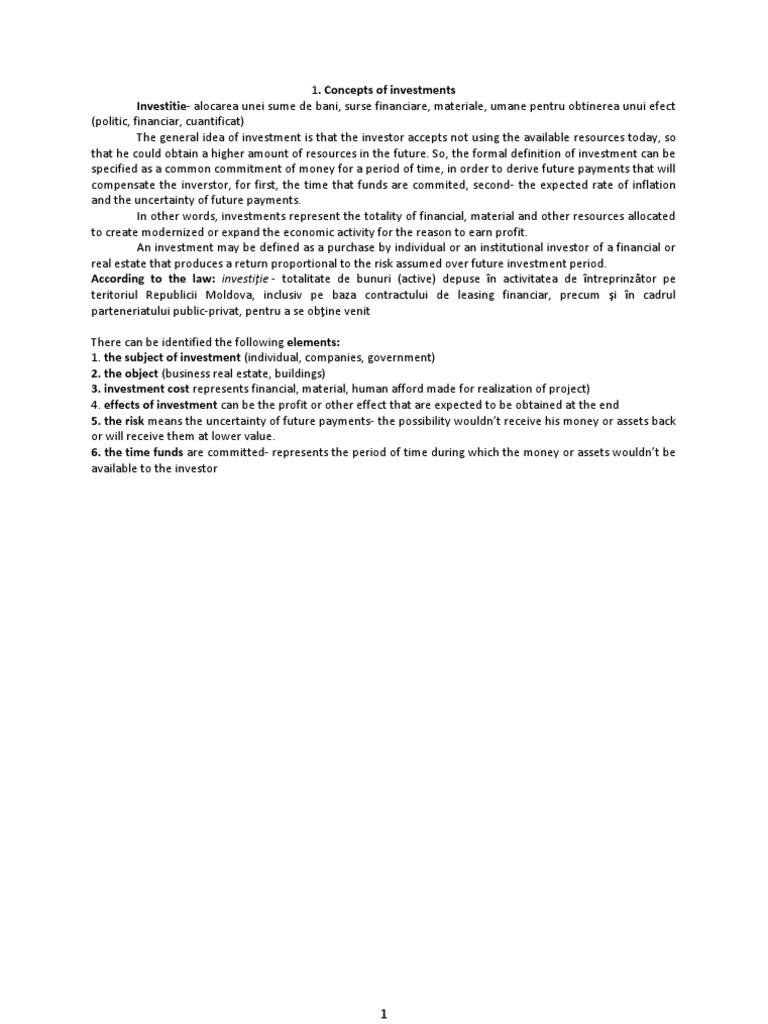 Finantarea proiectelor de investitii – o abordare practică