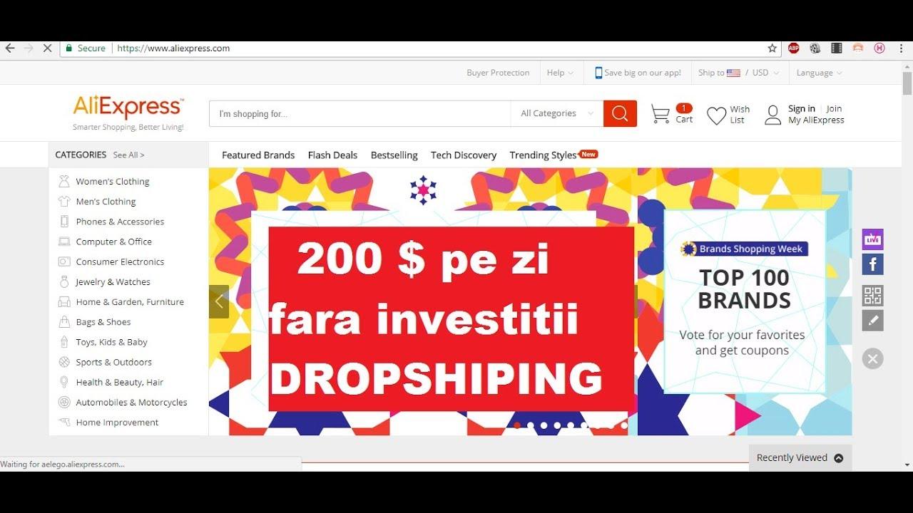 cum puteți câștiga bani pe Internet prin dropshipping