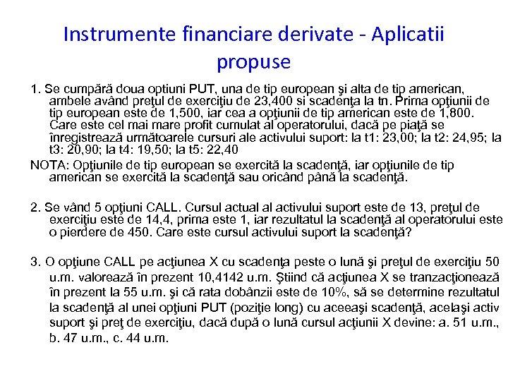 Ce sunt contractele Options? | ProfitPoint
