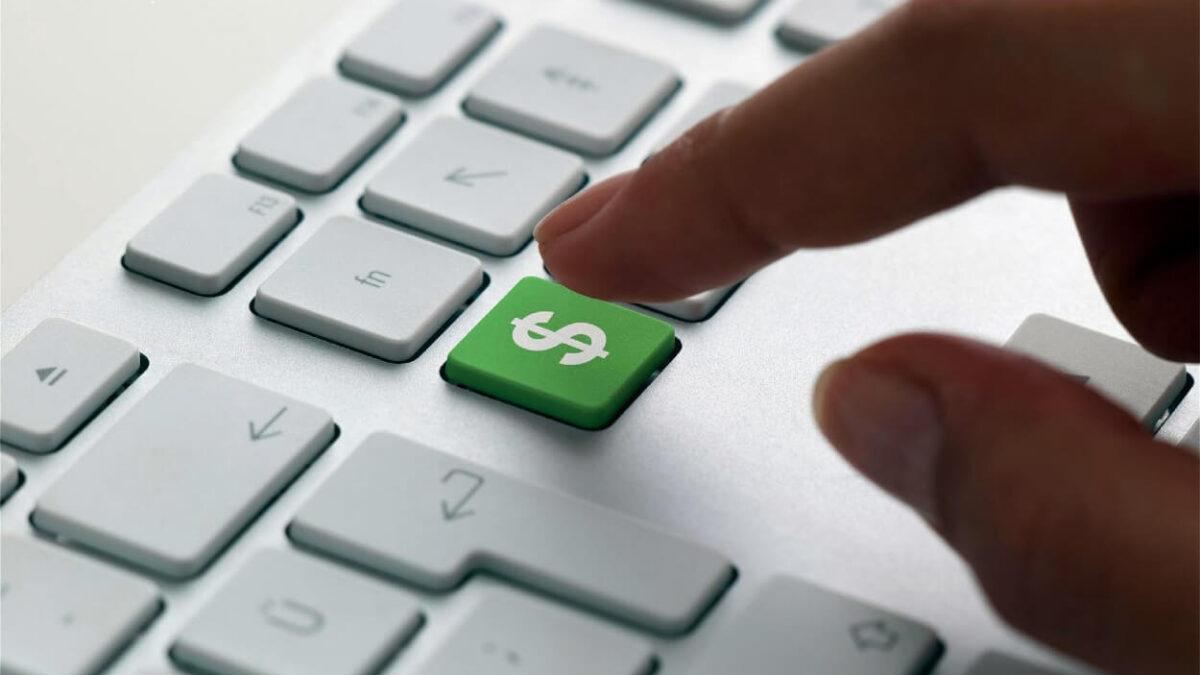 câștigând bani pe internet prin intermediul unui comerciant)