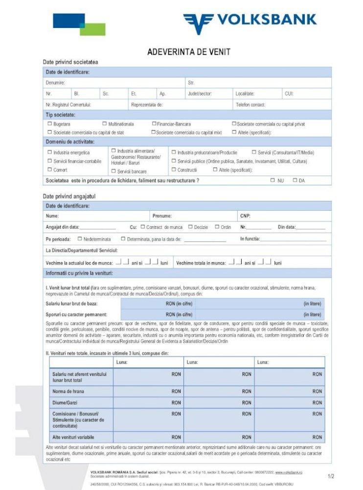registru suplimentar de informații cu privire la venitul personal