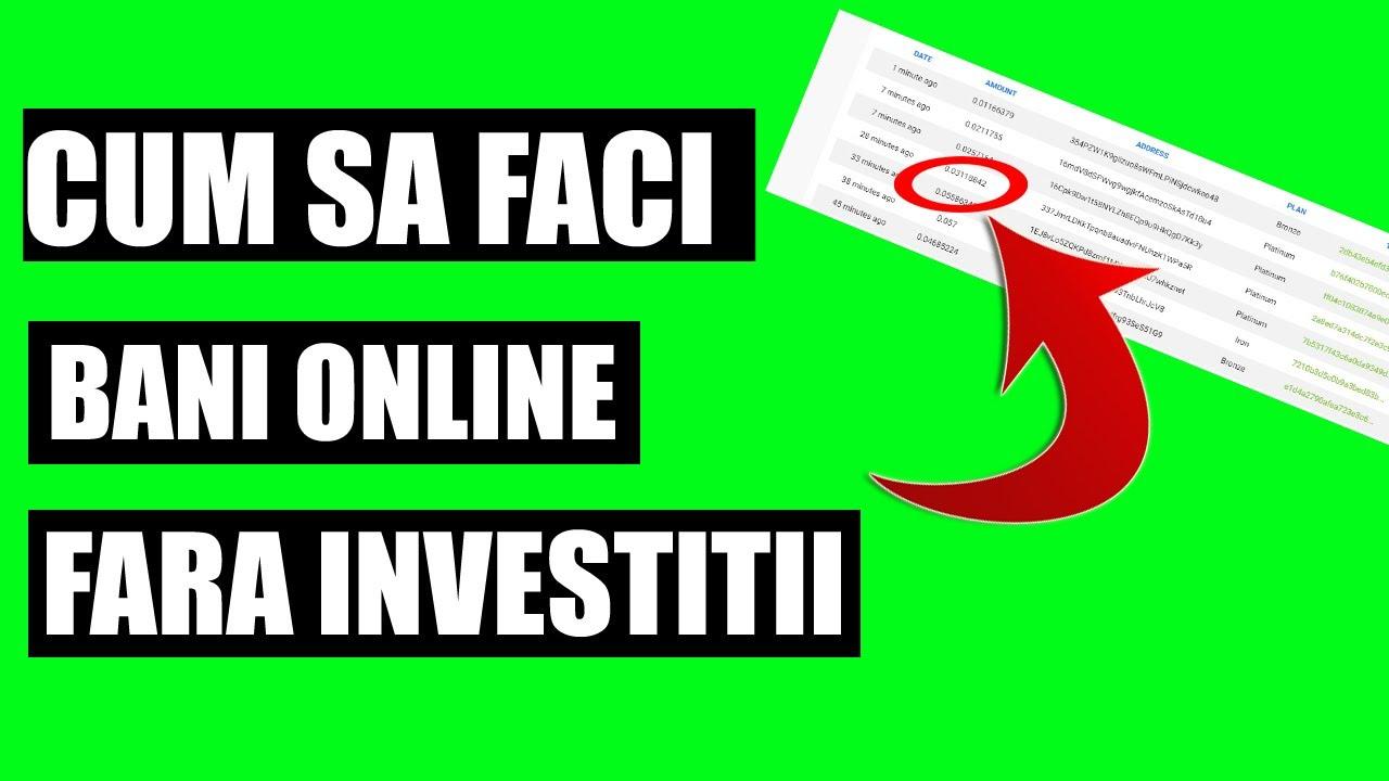 câștigați bani fără investiții rapid pe internet