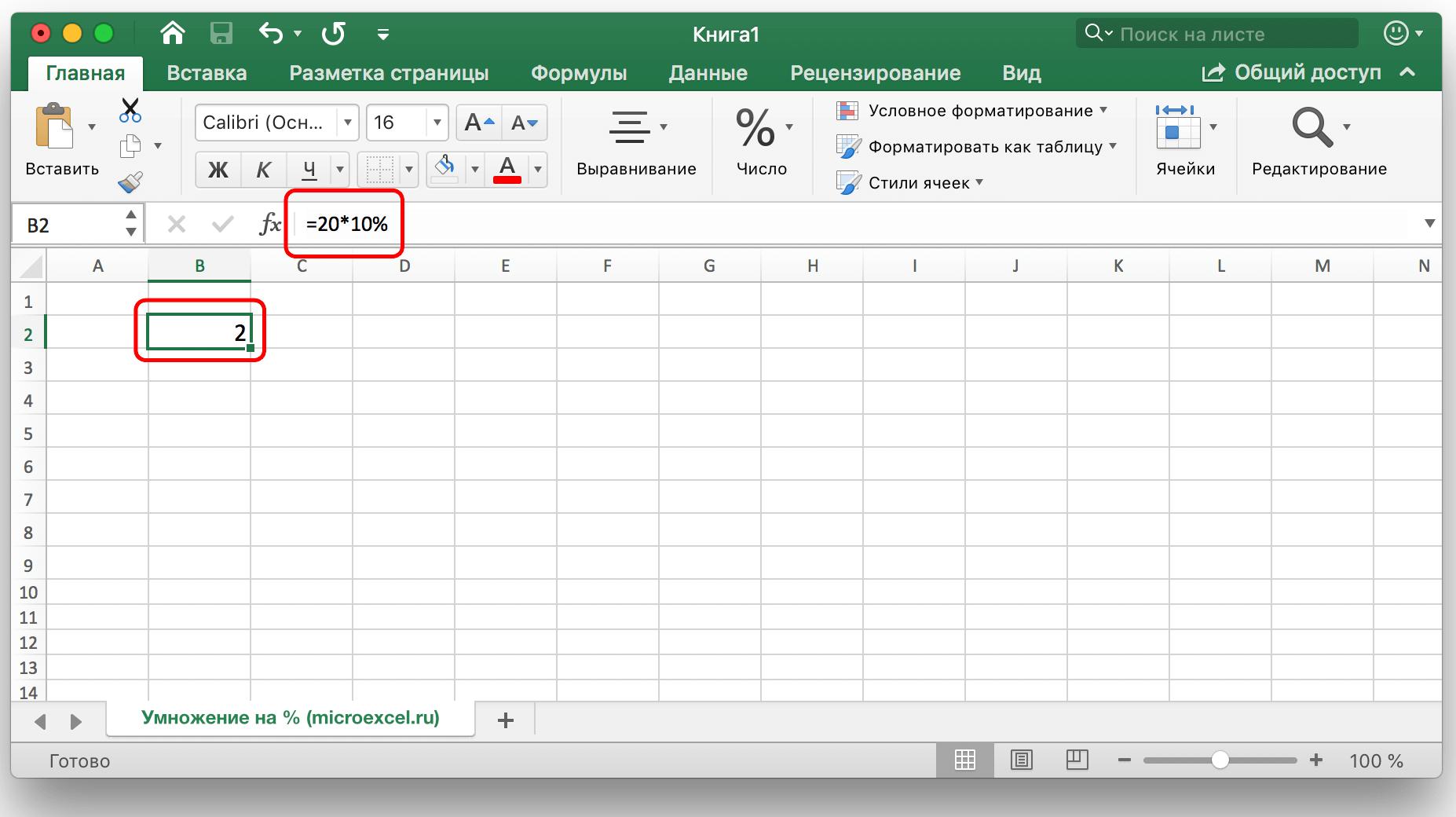 calculul opțiunii Excel)