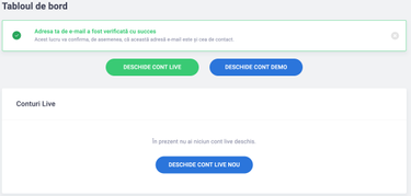cont demo pentru opțiuni de tranzacționare