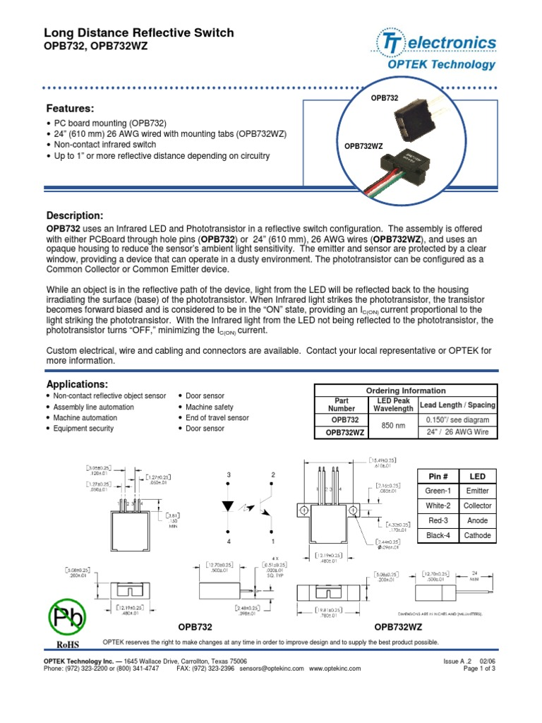 OPB | Optek Slotted Optical Switch mm 18V nm | Distrelec România