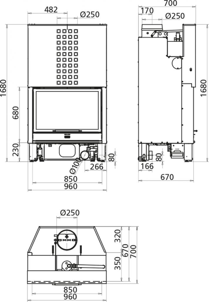 Lampă aplicată Lugano Touch, 12,8W, alb neutru, 1200mm, eloxat