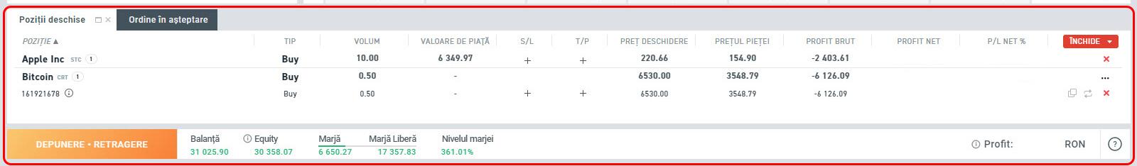 diferență cont demo real)