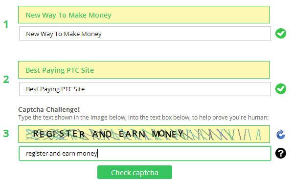 site- ul captcha verde câștigă bani pe Internet)