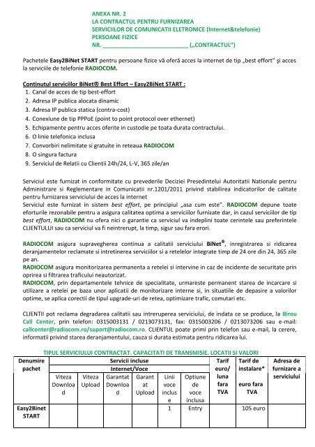 opțiune din contractul de furnizare a echipamentelor)