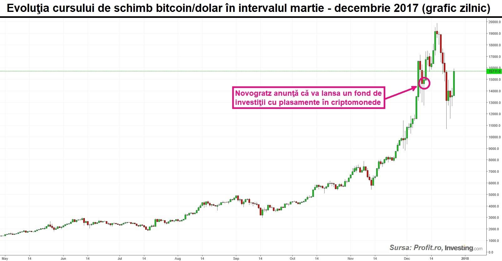 graficul Bitcoin pentru anul)