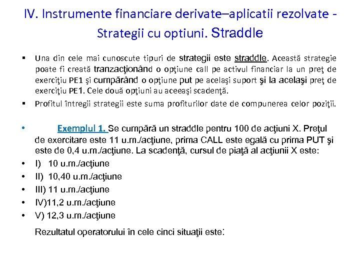 Instrumente financiare derivate