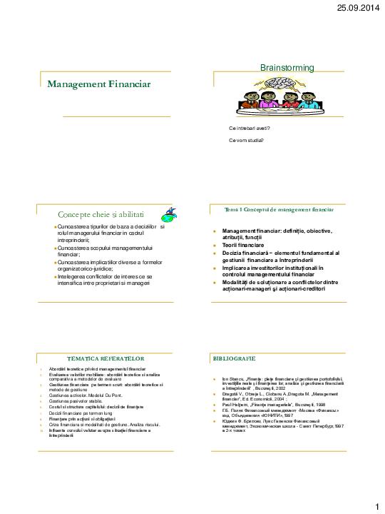 teoria opțiunilor în managementul financiar