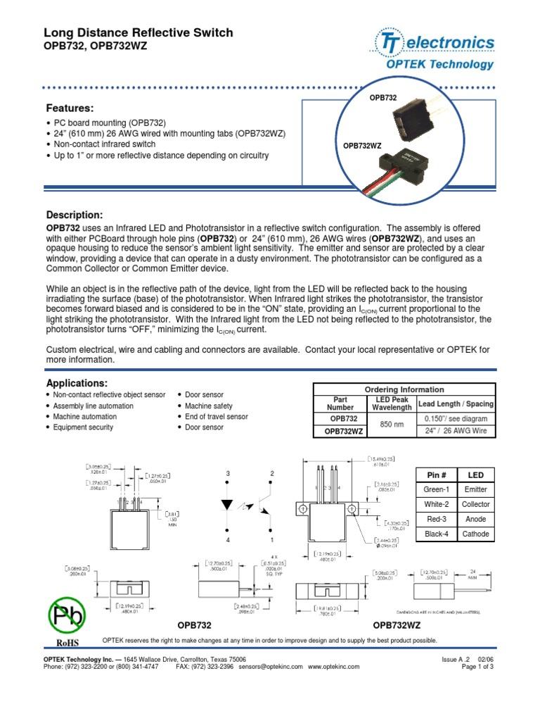 OPB   Optek Slotted Optical Switch mm 18V nm   Distrelec România